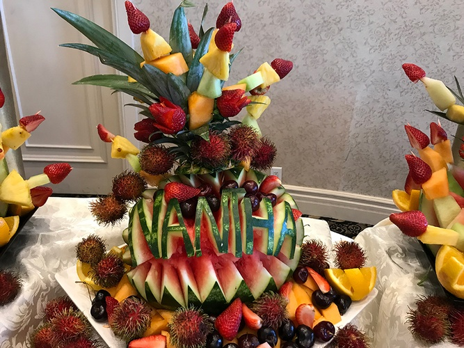 Fresh Fruit Decoration by Nantha Caters Inc - South Indian Restaurant Scarborough
