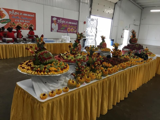 Fruit Decoration by Nantha Caters Inc - South Indian Restaurant Markham