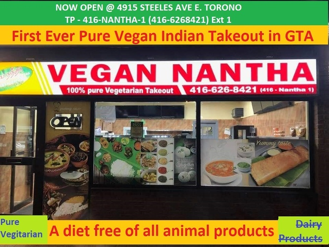Vegan Nantha Restaurant -  Catering Services Markham by Nantha Caters Inc