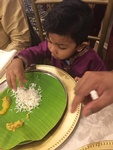 Baby Boy Eating Food at Nantha Caters Inc - South Indian Food Mississauga