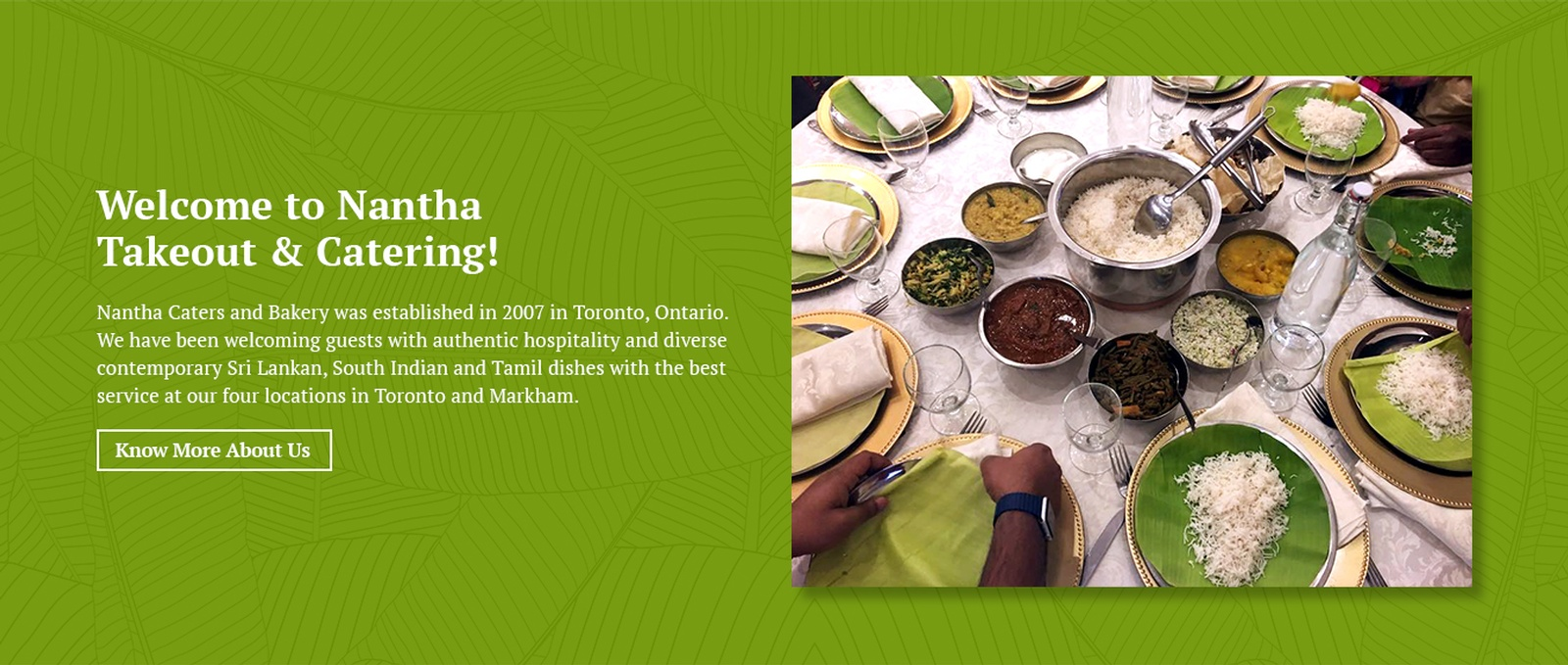 Welcome to Nantha Takeout and Catering - South Indian Food Toronto by Nantha Caters Inc